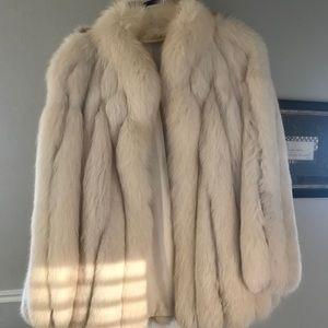 Jackets & Blazers - White Real Mink Fur Coat